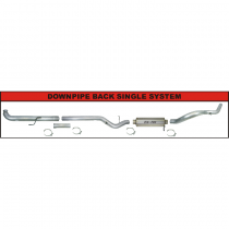 "2001-2007, 6.6L, 2500/3500, LB7-LLY-LBZ, Race Exhaust 4"" Downpipe Back"